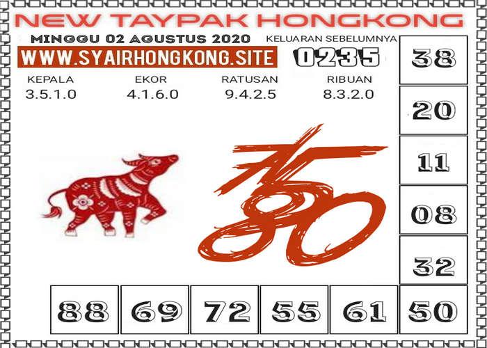 Kode syair Hongkong Minggu 2 Agustus 2020 215