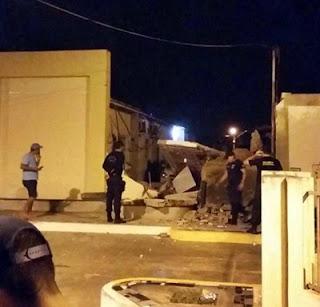 Caixa eletrônico que fica dentro da Prefeitura de Soledade é explodida