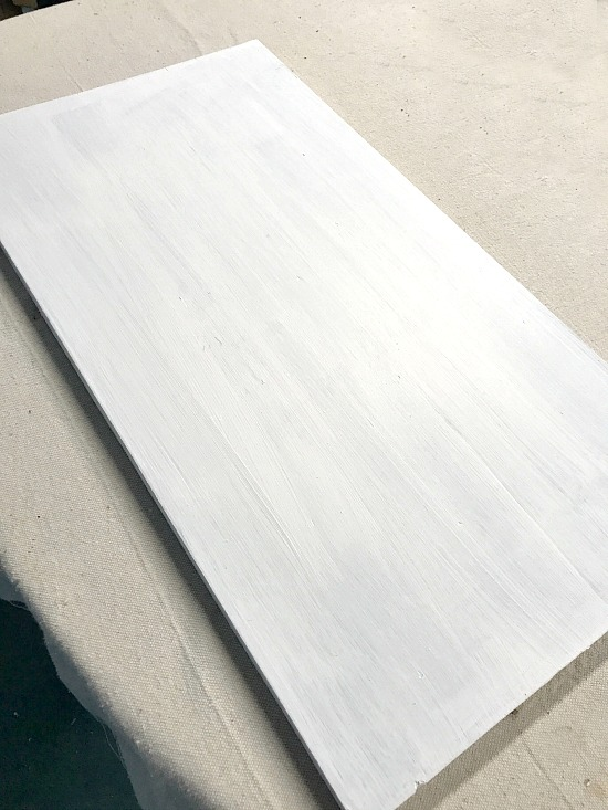 Painted white pallet for American Flag