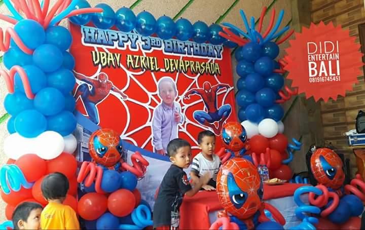 Dekorasi Ulang Tahun Spiderman