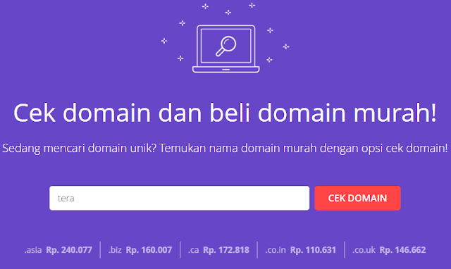 Cek domain https://www.hostinger.co.id