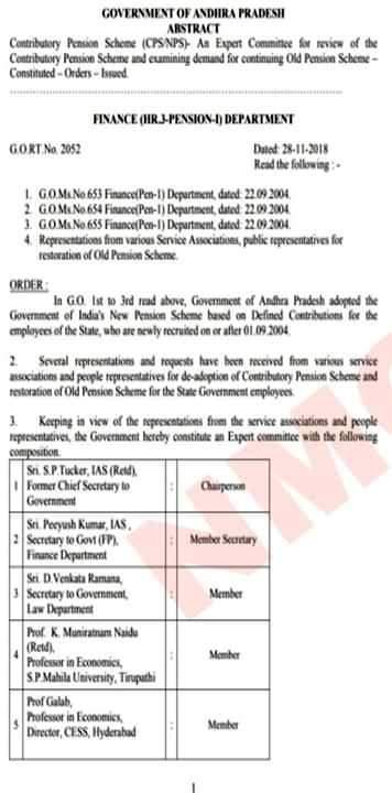 Andhra Pradesh Issued Orders