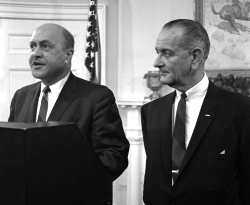 Robert C. Weaver & President Lyndon Johnson