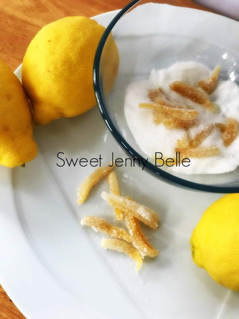 easy candied lemon peel by sweet jenny belle