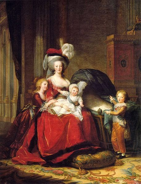 Marie-Antoinette (1755-1793/1774-1792) with her children, painted in 1787 by Élisabeth Vigée Le Brun.