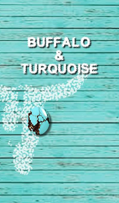 BUFFALO & TURQUOISE -white-