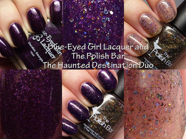 Blue-Eyed Girl Lacquer and The Polish Bar The Haunted Destination Duo