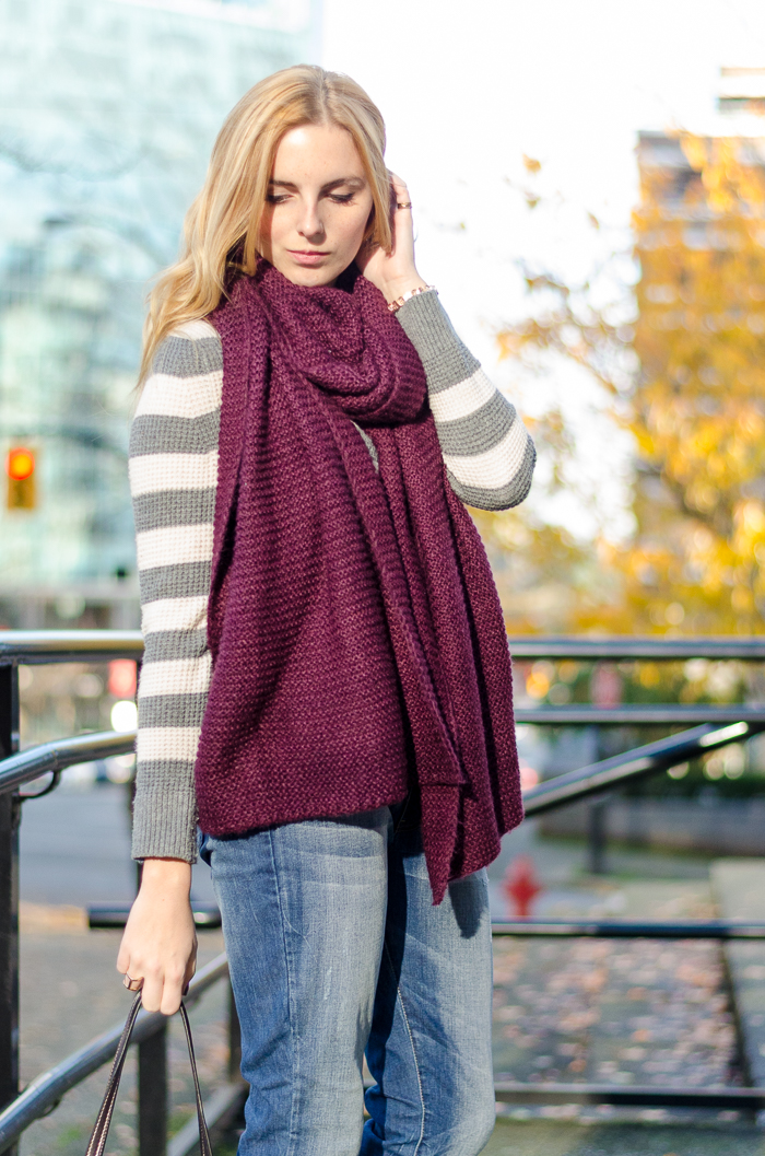 Winter Style, Winter outfits, Vancouver Fashion blogger, How to Style a blanket scarf