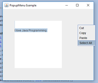 Java JPopupMenu Example with MouseListener and ActionListener