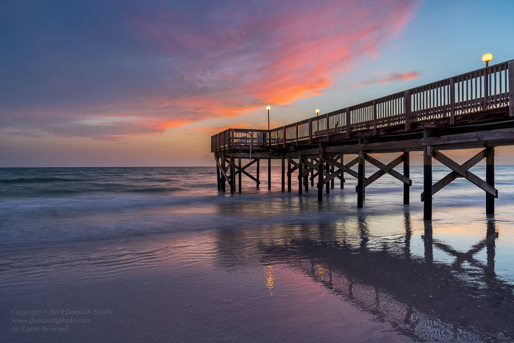 a photo of a Pier at sunset Florida Gulf Coast daniel south photography