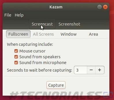 kazam ubuntu