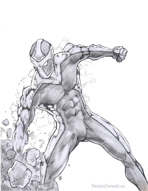 Superhero Action Pose Drawing
