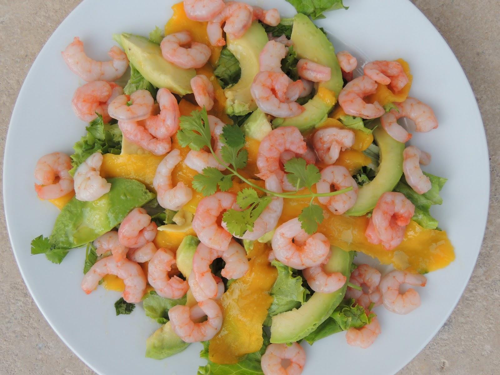 midi cuisine salade d 39 avocats crevettes et mangues recette l g re. Black Bedroom Furniture Sets. Home Design Ideas