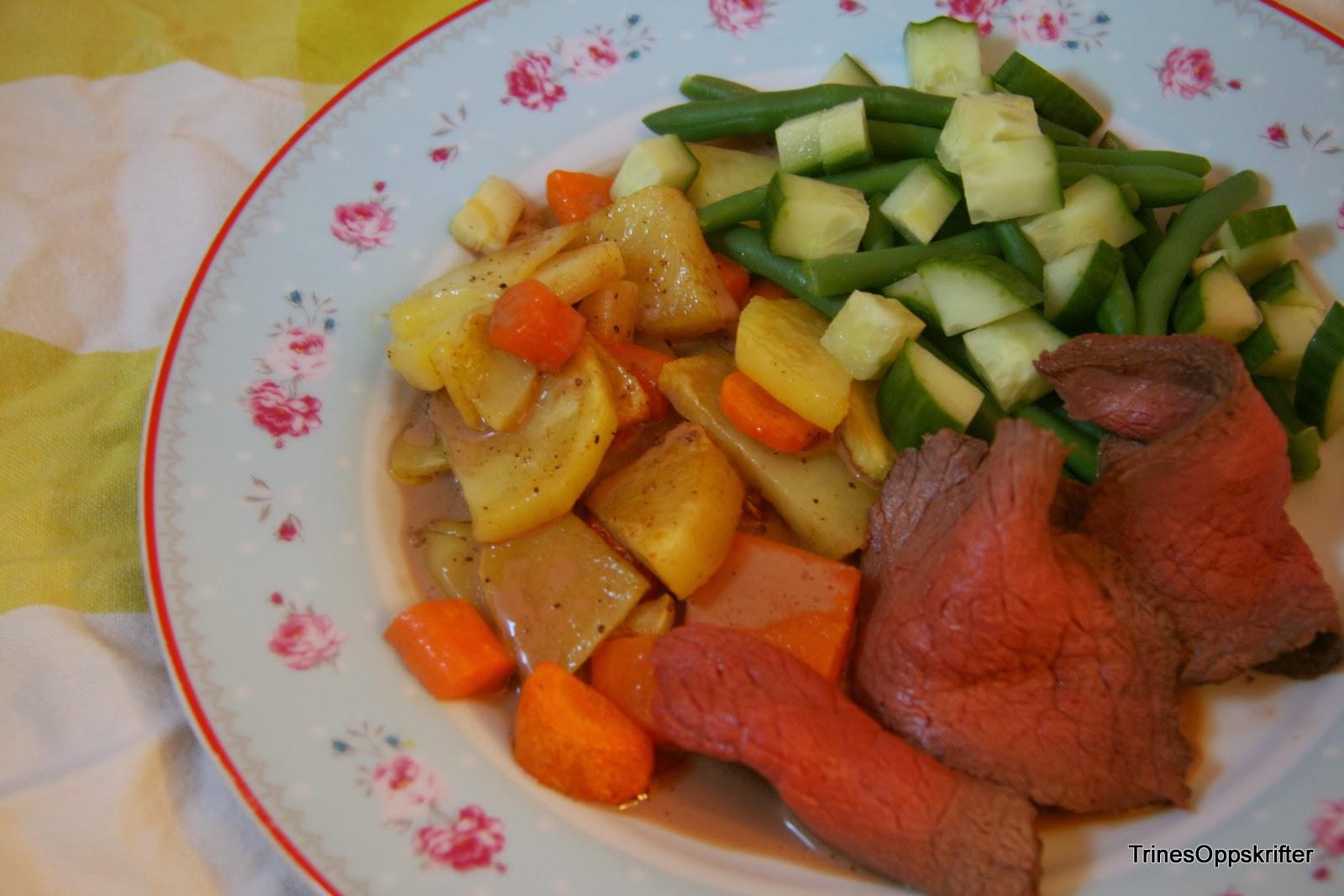 grønnsaker og dip oppskrift