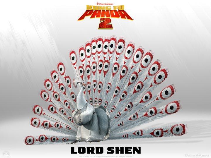 Lord Shen – Kung Fu Panda 2. Lord Shen is hyper intelligent, supremely lethal, and burns with ambition. It's a combustible combination.