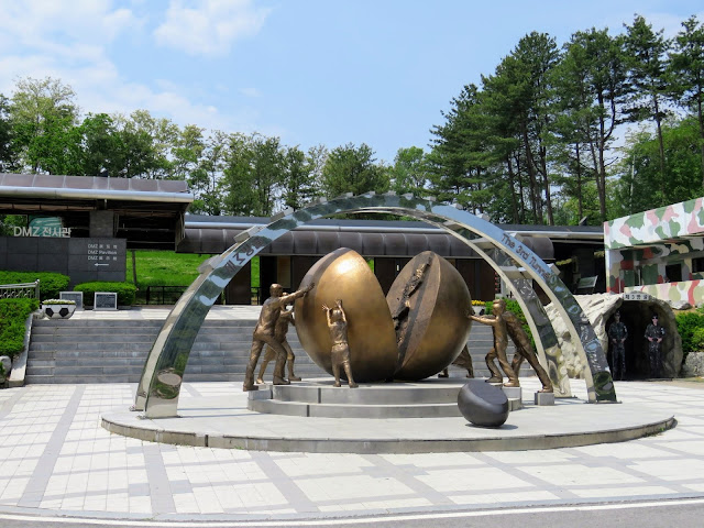 Sculpture at the Third Tunnel in the DMZ in South Korea