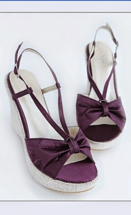 Model High Heels Wedges Purple Terbaru