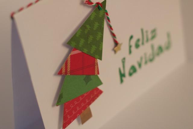 El Rincn de Mara Tarjetas fciles de Navidad con arbolitos