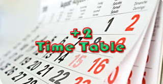 Download +2 Time Table 2017