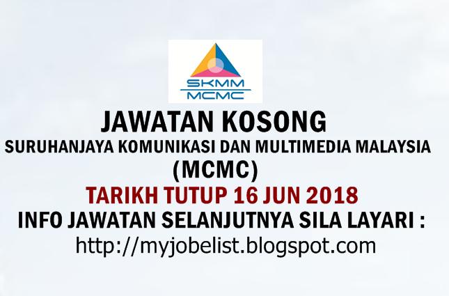 Jawatan Kosong di Suruhanjaya Komunikasi Dan Multimedia Malaysia (MCMC) 2018
