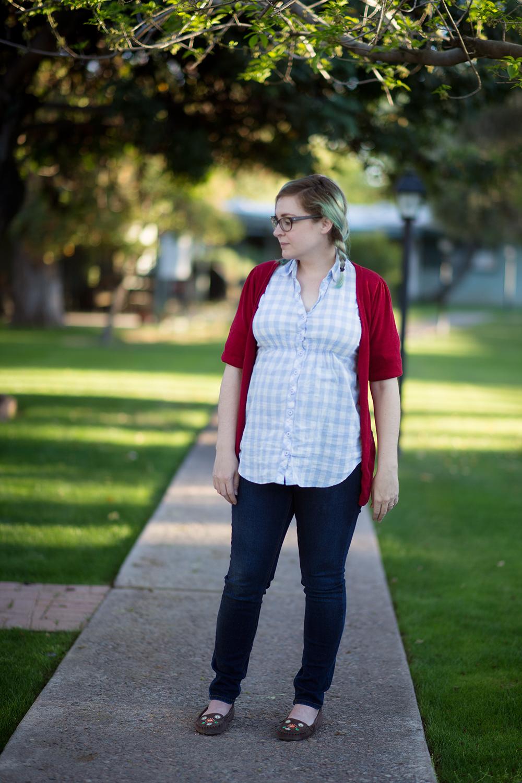 8 Months Pregnant Style - littleladylittlecity.com
