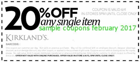 Kirklands coupon february 2018