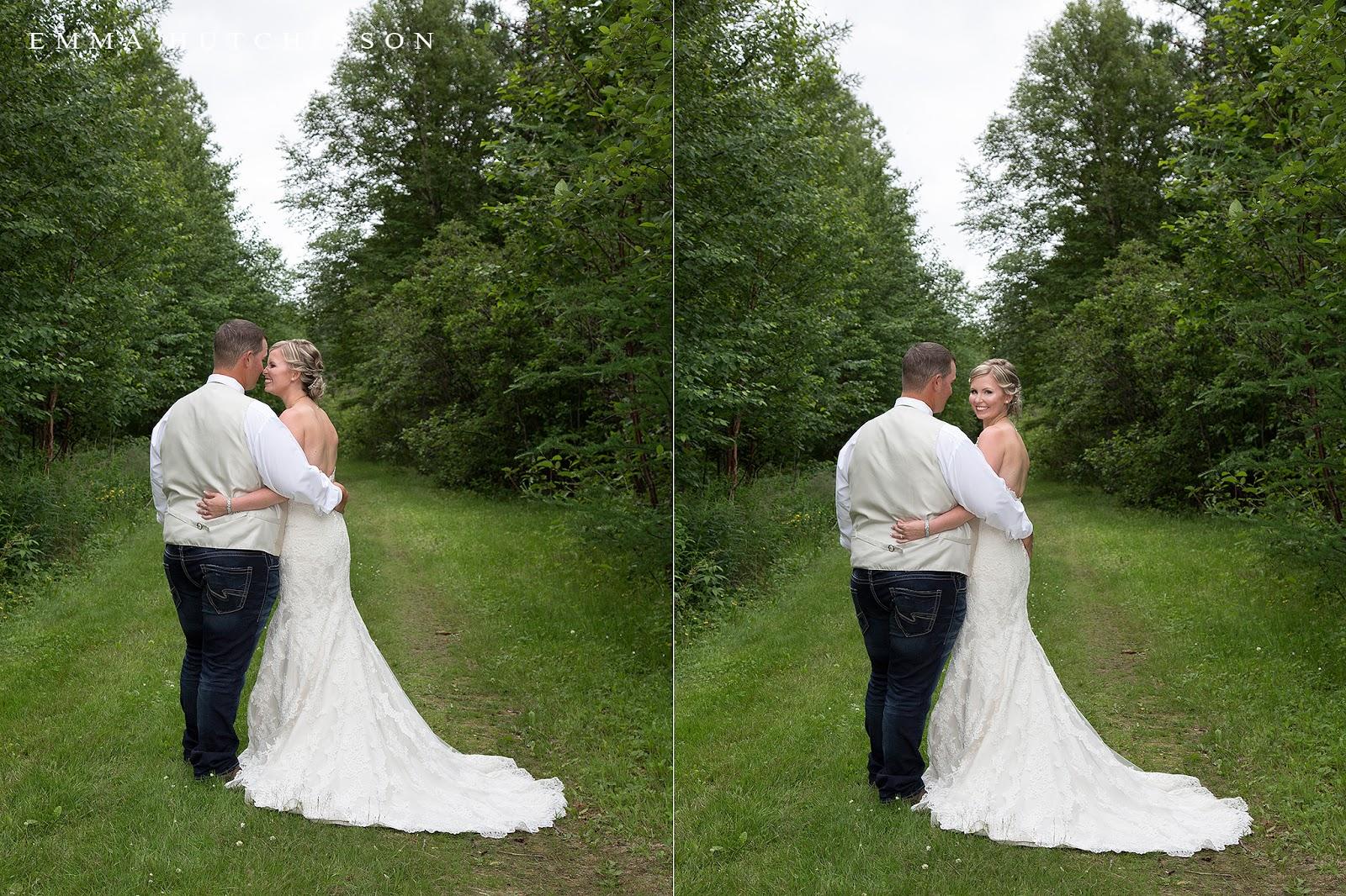Newfoundland backyard wedding - Bride and Groom