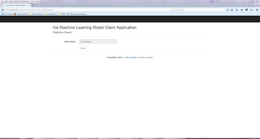 Azure Machine Learning: Iris Model Client Application