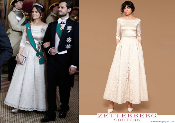 Princess Sofia wore Zetterberg Couture Adele Silk Top and Adele Lace Skirt