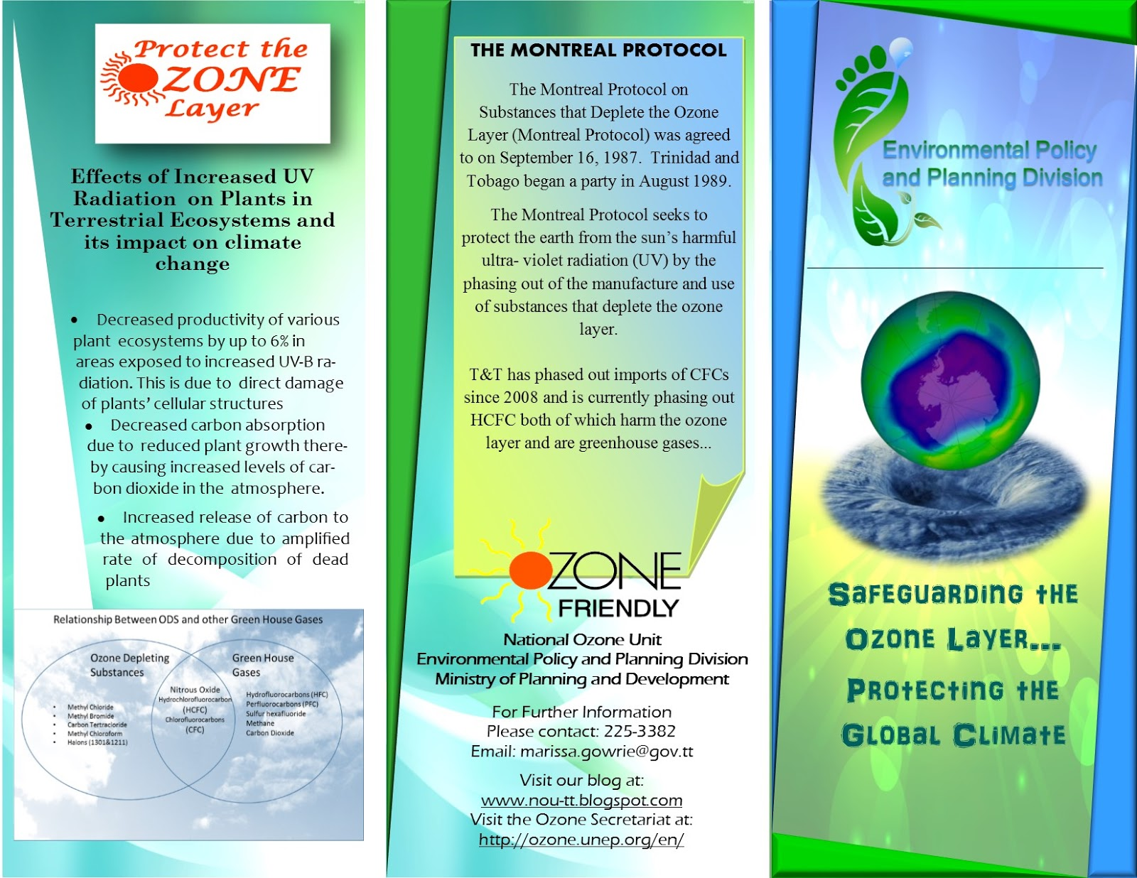Trinidad And Tobago National Ozone Unit Safeguarding The