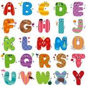 英語のアルファベットのキャラクター