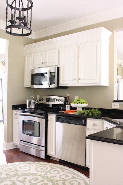 Customize basic cabinets with molding