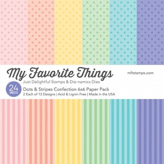MFT DOTS AND STRIPES CONFECTION 6x6 Paper Pack
