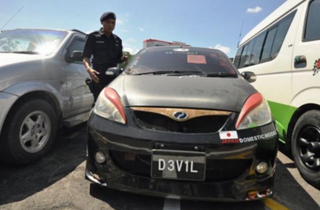 Kereta 'DEVIL' Akhirnya Ditahan Polis