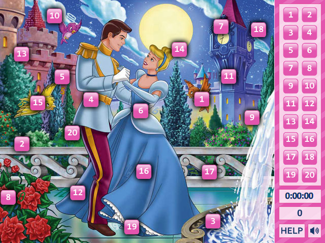 Cinderella Hidden Numbers 3