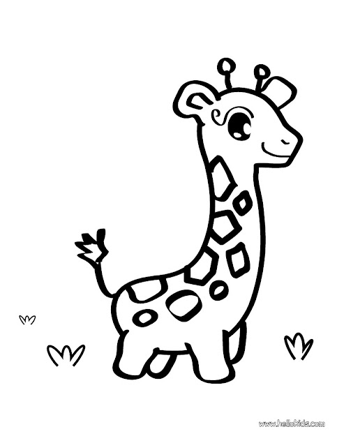 Giraffe Coloring Pages  Google Search