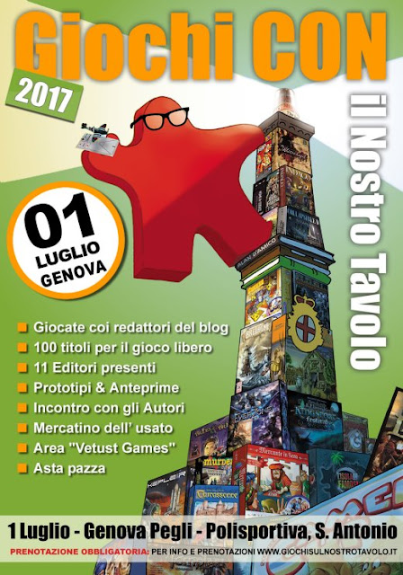Giochi CON il nostro tavolo - 1° luglio 2017 Genova - Aggiornamento