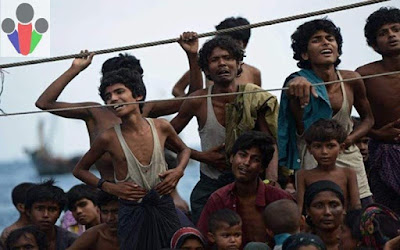 """Sejarah Rohingya   Rohingya menyebut diri mereka sendiri sebagai Ruáingga / ɾuájŋɡa / . Yang mana Istilah """"Rohingya"""" berasal dari Rakhanga atau Roshanga ,merupakan kata-kata yang merujuk pada negara bagian Arakan. Dalam bahasa yang dominan di wilayah tersebut, mereka dikenal sebagai rui hang gya Yang mana mereka adalah salah satu etnis di Myanmar yang mayoritas adalah Muslim dan minoritas adalah orang Hindu. mereka tinggal di negara bagian Arakan, di Myanmar (Burma). Meskipun terdapat sekitar 800.000 Rohingya tinggal di Myanmar, dan tampaknya nenek moyang mereka juga telah tinggal di negara tersebut selama berabad-abad, Namun pemerintah Birma (myanmar) tidak mengenal orang Rohingya sebagai warga negara. Orang-orang Rohingya juga dibatasi dari kebebasan dalam bergerak, pekerjaan, pendidikan dan pekerjaan sipil di Myanmar.    Rohingya termasuk kelompok etnis Indo-Arya yang sama dengan kelompok Indo-Arya di India dan Bangladesh. Berlawanan dengan mayoritas Etnis di Myanmar yang merupakan kelompok etnis Sino-Tibet. Adapun awal interaksi antara Islam dan orang Rohingya dimulai sejak abad ke-9  dimana Para pendakwah Islam sering mengunjungi pantai timur laut Teluk Benggala. Kemudian, kerajaan Muslim India, seperti Kesultanan Bengal dan Kekaisaran Mughal, memiliki beberapa aliansi dan perang dengan wilayah Arakan saat itu. peta provinsi arakan peta provinsi arakan  Bukti awal permukiman Muslim Bengali di Arak"""
