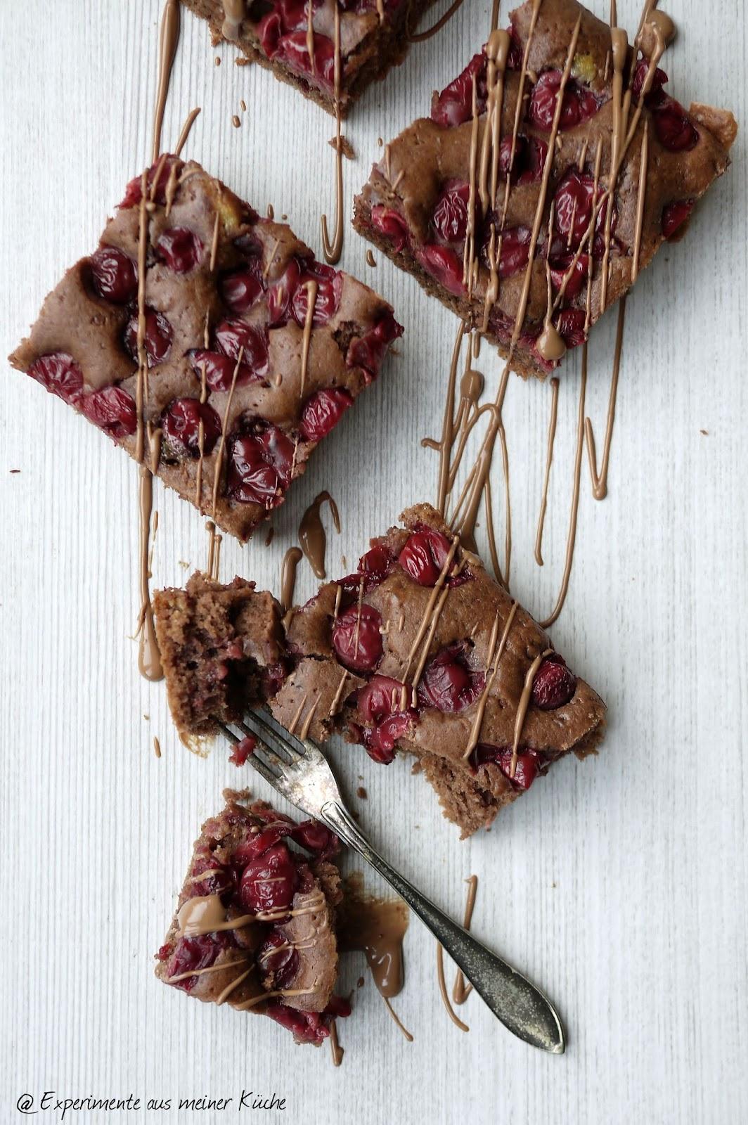 Experimente Aus Meiner Kuche Schokoladiger Schoko Kirsch Kuchen