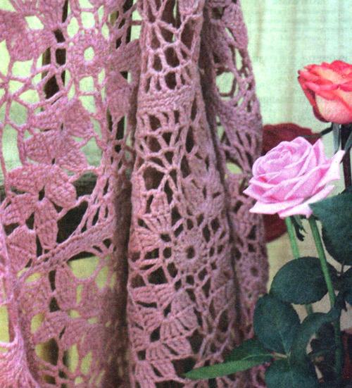 Шаль с кистями Shawl - Crochet
