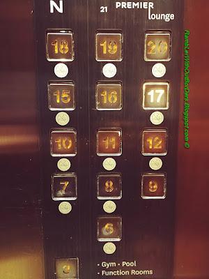 Lift's buttons, Novotel Citygate, Tung Chung, Hong Kong