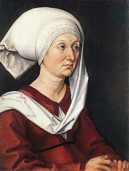 Albrecht Durer, portrait of Barbara Durere, the artist's mother, 1490