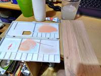 Tinte color haya para eucalipto blanco preparación