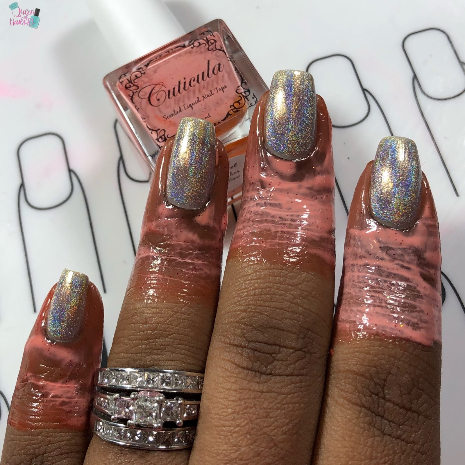 IndieSwatch: Queen of Nails 83: Tonic Polish Water Marble