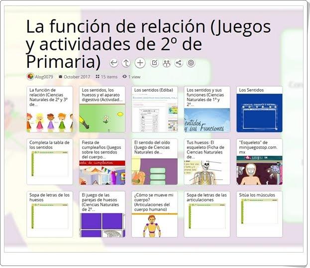 """""""12 Juegos y actividades para el estudio de LA FUNCIÓN DE RELACIÓN en 2º de Primaria"""""""
