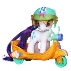 MLP Pony Scooter Friends Rarity Brushable Pony