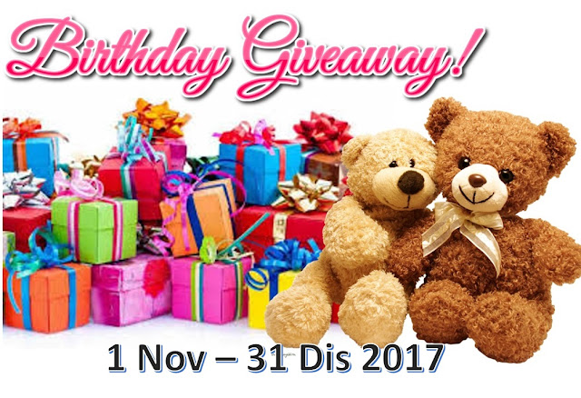 Birthday Giveaway November By Blog Syifa