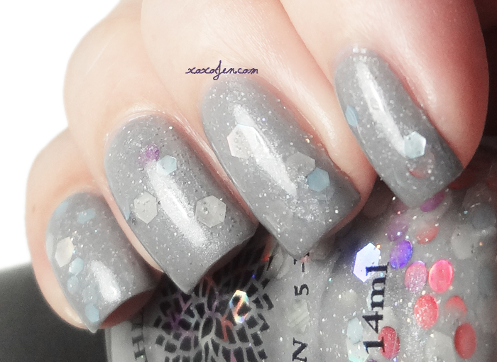 xoxoJen's swatch of Black Dahlia Grey Twilight Organza