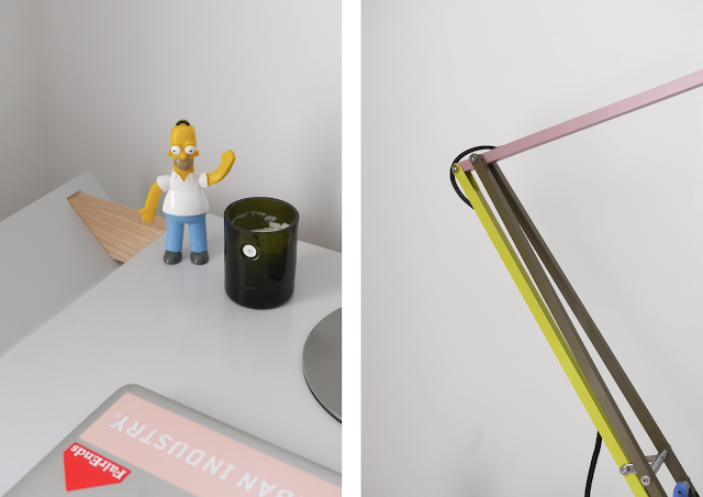 anglepoise paul smith type 75 lamp and dan marc writing desk