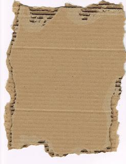 Pedazo de cartón